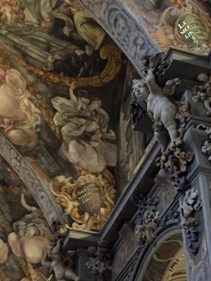 Dionisio Vidal y Antonio Palomino: Detalle de las decoraciones al freco y estucos realizadas en San Nicolás de Valencia. Foto: Investigart.