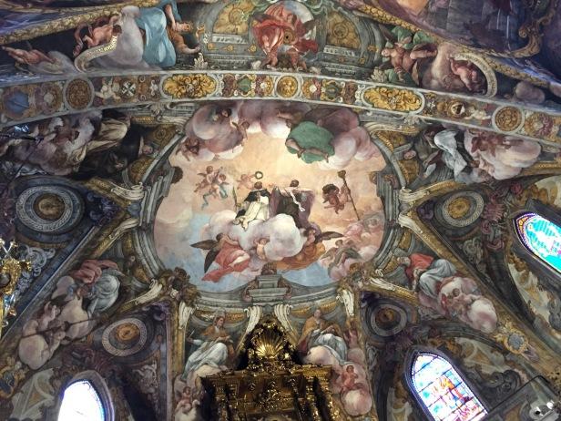 Dionisio Vidal y Antonio Palomino: Altar Mayor con la representación de San Nicolás y San Pedro Mártir. Foto: Investigart.