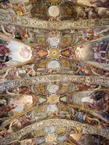 Dionisio Vidal y Antonio Palomino: Bóveda central de San Nicolás de Valencia. Foto: Investigart.