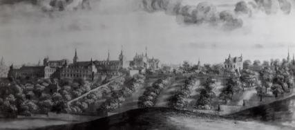 Pier María Baldi: Vista de Madrid desde Atocha (detalle). Reproducido en: Brown y Eliot: Un palacio para el Rey.