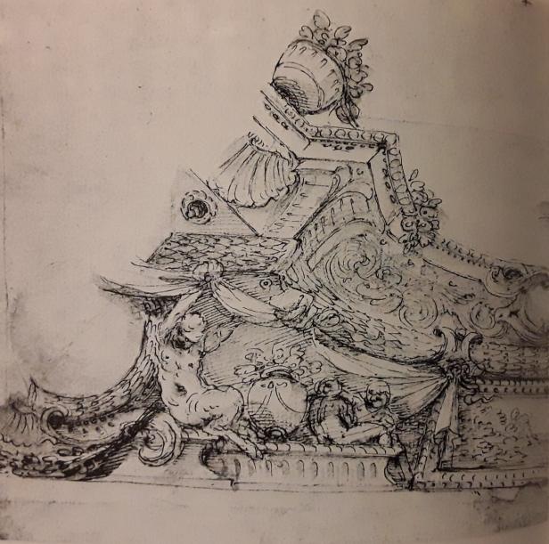 Agostino Mitelli: Estudio para el techo de San Pablo. Berlín. Kunstbibliothek.