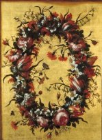 Bartolomé Pérez: Guirnalda de flores. Colección particular.