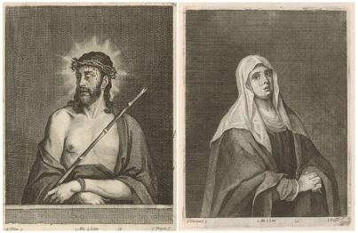 Jan van Troyen. Ecce Homo y Dolorosa. Ca. 1660.