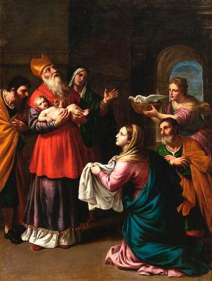 Alessandro Turchi: Presentación del Niño en el templo. Madrid, Museo Nacional del Prado.