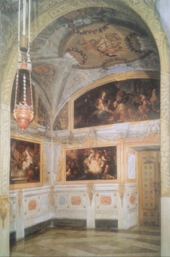Francisco Rizi y Dionisio Mantuano. Capilla del Milagro. Frescos de la antecapilla.