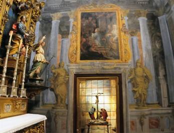 Francisco Rizi y Dionisio Mantuano. Capilla del Milagro. Muro lateral con Presentación de la Virgen en el Templo. Foto: Madridiario.