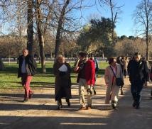 Imagen del Paseo que dimos por los Jardines del Buen Retiro con la Alcaldesa de Madrid el pasado 19 de marzo.