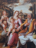 Baccio Lomi. Sagrada familia con San Juanito. Colección Privada.