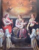 Baccio Lomi. Virgen con Santa María Magdalena y Santa Bárbara y monjas carmelitas. Iglesia del Carmine. Pescaglia.