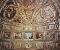 Aurelio Lomi y Orazio Gentileschi. Historias de la Virgen. Techo de la capilla Pinelli en Santa María in Vallicella. Roma