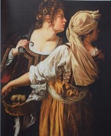 Judith y su criada con la cabeza de Holofernes. Galería Palatina. Florencia.