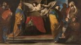 Massimo Stanzione. El nacimiento del Bautista anunciado a Zacarías. Museo del Prado.
