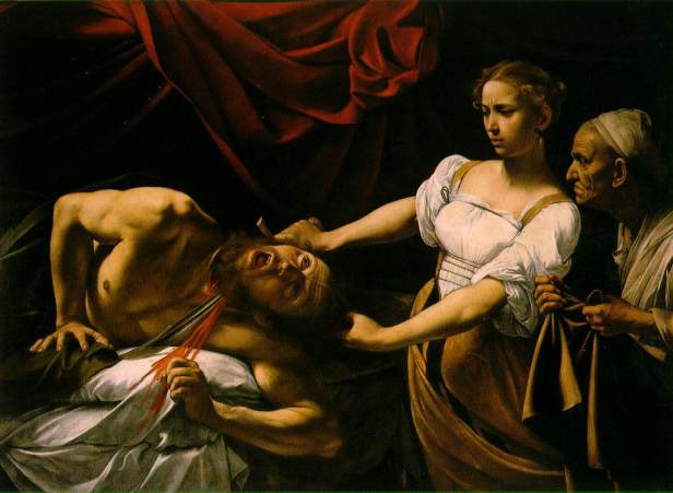 Caravaggio. Judith cortando la cabeza a Holofernes. Galería Nacional de Arte Antiguo. Roma. Foto: wikipedia.