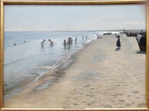 P.S. Krøyer: Día de verano en la playa de Skagen, 1884. Copenhague, Den Hirschsprungske Samling. Foto: Investigart.