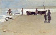 P.S. Krøyer: Pescadores en la playa de Skagen, 1882. Foto: Wikiart.