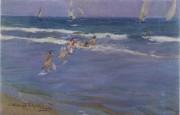 Joaquín Sorolla: Niños en el mar, 1909. Foto: Wikiart.