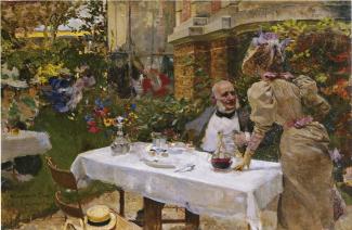 Joaquín Sorolla: Café de París, 1885. Foto: Wikiart.