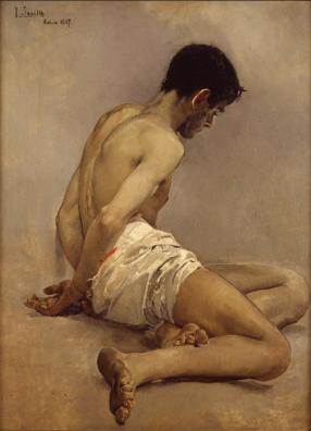 Joaquín Sorolla: Desnudo académico, 1997. Foto: Wikiart.