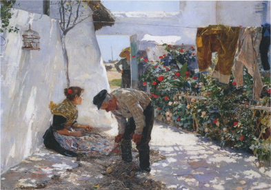 Joaquín Sorolla: Redes de Pesca, 1893. Foto: Wikiart.