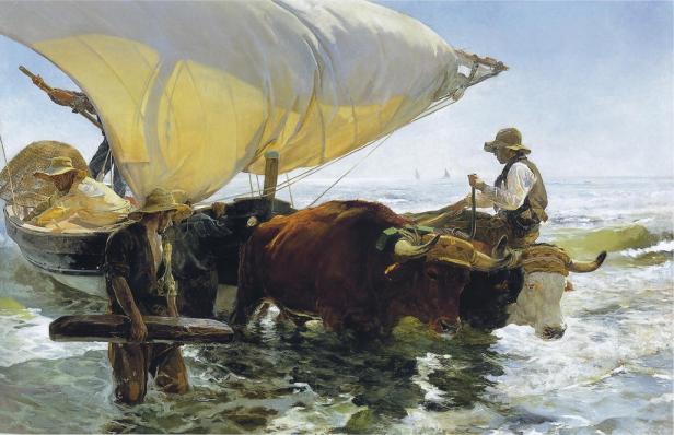Joaquín Sorolla: Retorno de la Pesca, 1894. Foto: Wikiart.