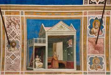 Giotto. Anuncio a Santa Ana. Capilla Scrovegni. Padua. (foto: wikipedia)