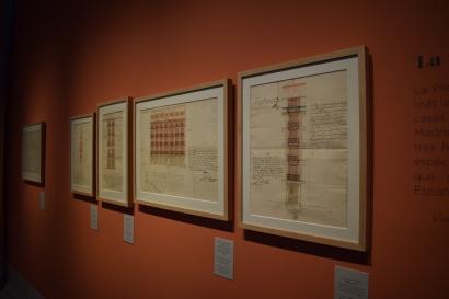 Montaje de los dibujos de Juan Gómez de Mora con proyectos de casas vinculadas a la Plaza Mayor o la Calle Mayor y que provienen del Archivo de la Villa.