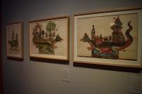 Montaje de las tarascas del Corpus Christi provenientes del Archivo de la Villa de Madrid.