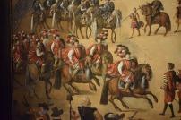 Detalle de los infantes don Carlos y don Fernándo y del conde duque de Olivares en el cuadro atribuido a Juan de la Corte.