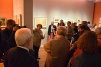 La comisaria Beatriz Blasco durante la inauguración de la exposición.