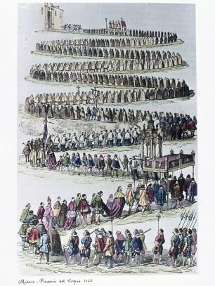 Juan Evaristo Casariego. Madrid, procesión del Corpus en 1623. S. XIX. Foto: memoria de Madrid...