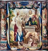 Tapiz de los Proverbios: Tanto va el cántaro a la fuente que se termina por romper, Museo de la catedral de Tarragona.
