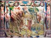 Tapiz de los Proverbios: Es el dueño de la vaca quien la salva del surco, Museo de la catedral de Tarragona.