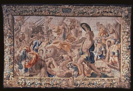 Tapiz de Alejandro herido en la batalla de Issos. Toledo, Museo de Santa Cruz.