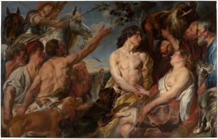 Jacob Jordaens: Meleagro y Atalanta. Madrid, Museo Nacional del Prado.
