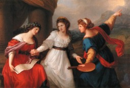 Angelica Kauffmann: La artista entre la pintura y la música, 1794. Nostell Priory, National Trust.