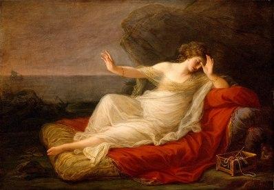 Angelica Kauffmann: Ariadna abandonada por Teseo, 1774. Houston, Museum of Fine Arts.