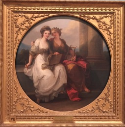 Angelica Kauffmann: La artista personalizada como el Diseño inspirada por la Poesía, 1782. Londres, English Heritage.