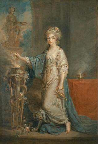 Angelica Kauffmann: Retrato de mujer como Vestal. Madrid, Museo Thyssen Bornemisza.