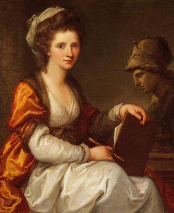 Angelica Kauffmann: Autorretrato como Minerva, 1780. Büdner Kunstmuseum.
