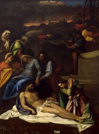 Sebastiano del Piombo: Llanto por Cristo muerto, 1516. San Petersburgo, Hermitage Museum.