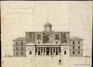 Anónimo español. Proyecto de edificio para Real Observatorio. Madrid. Biblioteca Nacional.