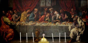 Luis Tristán: La última cena. Iglesia parroquial de Cuerva (Toledo). Foto: Cuaderno de Sofonisba [http://cuadernodesofonisba.blogspot.com]
