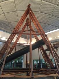 Réplica del telescopio de 25 pies de Herschel.