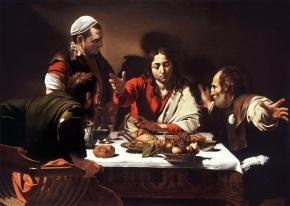 Caravaggio: Los discípulos de Emaús