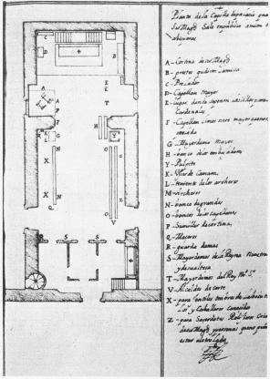 Planta de la Real Capilla del Alcázar de Madrid. Madrid, Archivo General de Palacio.