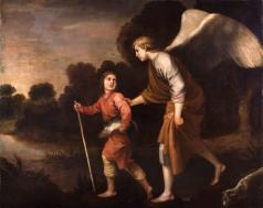 Alonso Cano: Tobías y el ángel. Vendido en Subastas Abalarte.