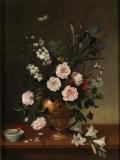 Pedro de Camprobín. Florero y cuenco de cerámica. 1663. Museo del prado.