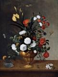 Pedro de Camprobín. Florero y recipiente de cristal. 1663. Museo del prado.