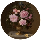 Pedro de Camprobín. Jarrón de bronce con rosas. 1640-60. Museo del prado.