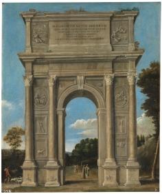 Domieco Zamipiri el Domenichino: Arco Triunfal. Madrid, Museo Nacional del Prado.